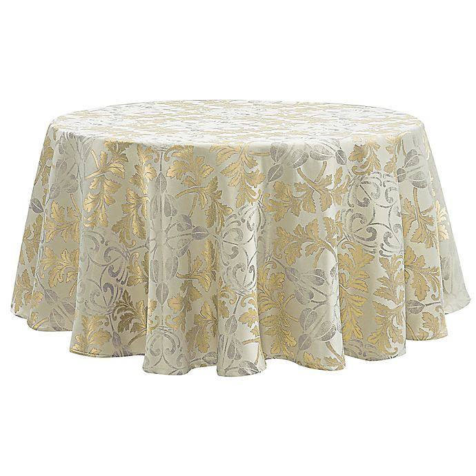 Alternate image 1 for Waterford Linens® Octavia Tablecloth in Gold