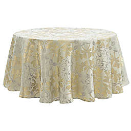 Waterford Linens® Octavia 70-Inch Round Tablecloth in Gold