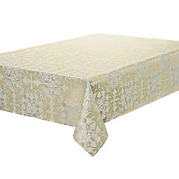 Waterford Linens® Octavia 52-Inch x 70-Inch Oblong Tablecloth in Gold