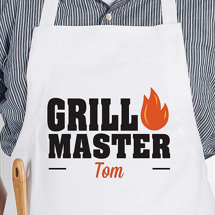 Alternate image 1 for Master Of The Grill Adult Apron in White