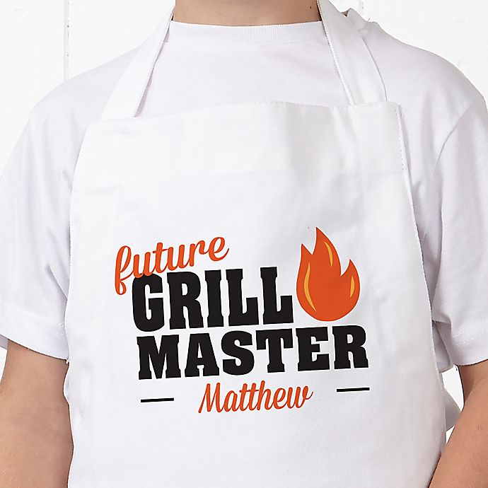 Alternate image 1 for Future Master Of Grill Youth Apron in White