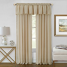 Achim Wallace Rod Pocket Window Curtain Panel and Valance
