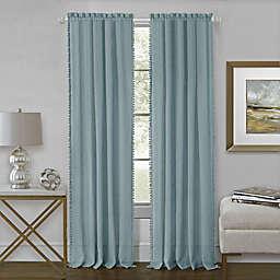 Achim Wallace 84-Inch Rod Pocket Window Curtain Panel in Aqua