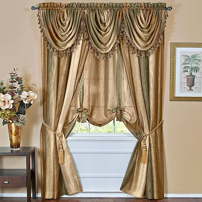 Ombre Window Curtain Panel Valance