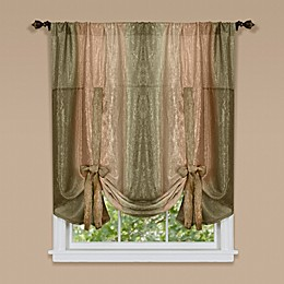 Ombre Rod Pocket Tie-Up Window Shade