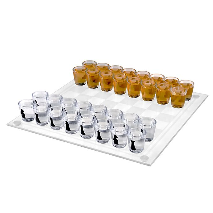 Alternate image 1 for Hey! Play! Shot Glass Chess and Checkers Game Set