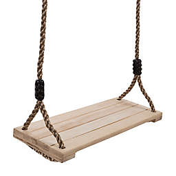 Hey! Play! Outdoor Wooden Swing for Kids Playset