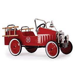 Baghera Metal Ride-On Fireman Truck in Red