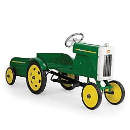 Baghera Metal Ride-On Tractor with Trailer in Green