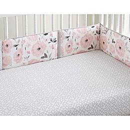 Levtex Baby® Elise 4-Piece Crib Bumper Set in Pink/Grey