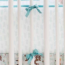 My Baby Sam Forest Friends 4-Piece Crib Bumper Set