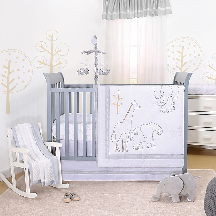 Alternate image 1 for The Peanutshell™ Tons of Love 3-Piece Crib Bedding Set