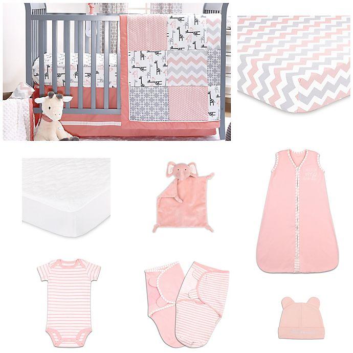 Alternate image 1 for The PeanutShell™ 11-Piece Uptown Girl Crib Bedding Set