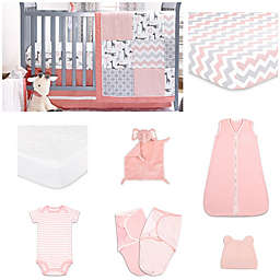 The PeanutShell™ 11-Piece Uptown Girl Crib Bedding Set