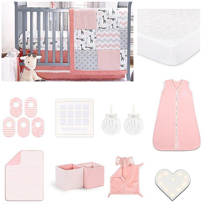Alternate image 1 for The PeanutShell™ 18-Piece Uptown Girl Nursery Set