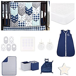 The PeanutShell™ Woodland Trails 18-Piece Nursery Essentials Set in Navy