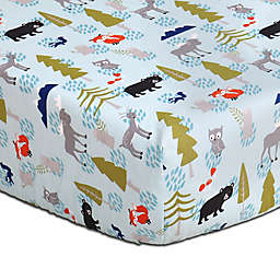The Peanutshell™ Woodland Dreams Fitted Crib Sheet