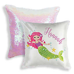 Sequined Mermaid Throw Pillow