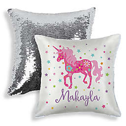 Sequined Unicorn Throw Pillow