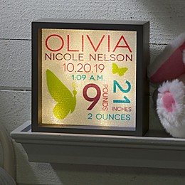 Sweet Baby Girl LED Light Shadow Box