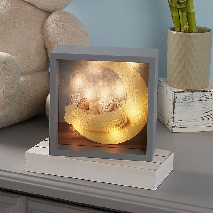 Alternate image 1 for Baby Photo LED Light Shadow Box