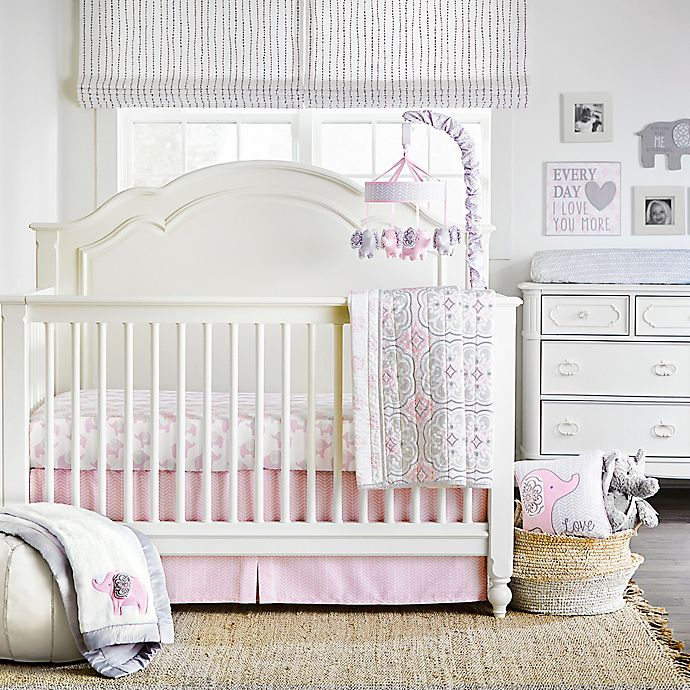 Alternate image 1 for Wendy Bellissimo™ Elodie 4-Piece Crib Bedding Set in Pink/White