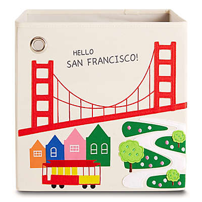 "kaikai & ash ""Hello San Francisco!"" Kid's Storage Bin"