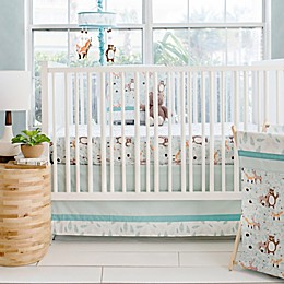 My Baby Sam Forest Friends 3-Piece Crib Bedding Set in Aqua