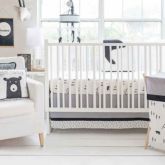 Alternate image 1 for My Baby Sam Little Black Bear Crib Bedding Collection