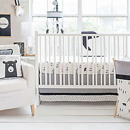 My Baby Sam Little Black Bear 3-Piece Crib Bedding Set in Black