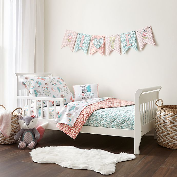 Alternate image 1 for Levtex Baby® Fiona 5-Piece Toddler Bedding Set in Coral