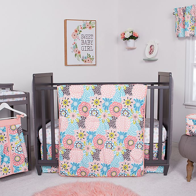 Alternate image 1 for Waverly® Baby by Trend Lab® Blooms 5-Piece Crib Bedding Set