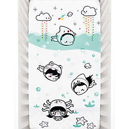 Rookie Humans Dive In Fitted Crib Sheet