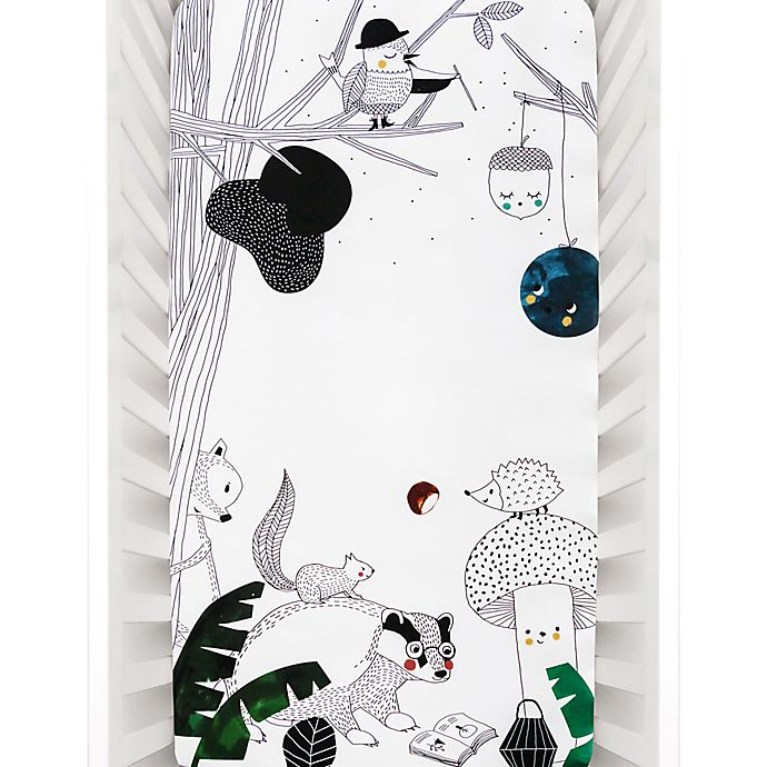 Alternate image 1 for Rookie Humans Woodland Dreams Fitted Crib Sheet