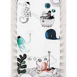 Rookie Humans Underwater Love Fitted Crib Sheet