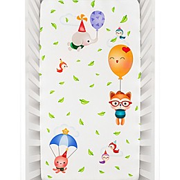 Rookie Humans Balloon Party Fitted Crib Sheet