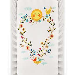 Rookie Humans Love Blooms Fitted Crib Sheet