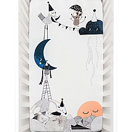 Rookie Humans Moon's Birthday Fitted Crib Sheet