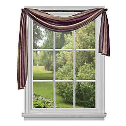 Ombre Window Scarf in Aubergine (Single)