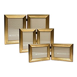 Lawrence Frames Burnished Double Picture Frame in Gold