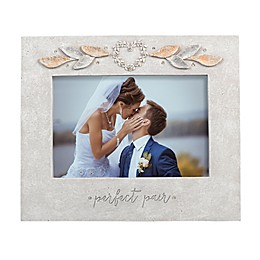 Grasslands Road 4-Inch x 6-Inch Perfect Pair Wedding Frame in Gray