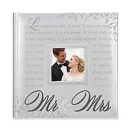 Mr. & Mrs. 160-Photo Wedding Album in Silver