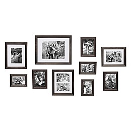 Kate and Laurel 10-Photo Bordeaux Gallery Wall Kit in Grey