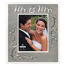 Malden® 8-Inch x 10-Inch Laser-Cut Mr. & Mrs. Picture Frame