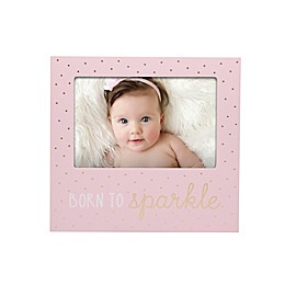 Pearhead® Born to Sparkle 4-Inch x 6-Inch Picture Frame in Pink