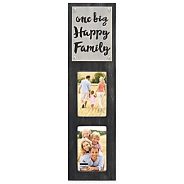 Malden® Laser-Cut 2-Photo Picture Frame with Family Plaque