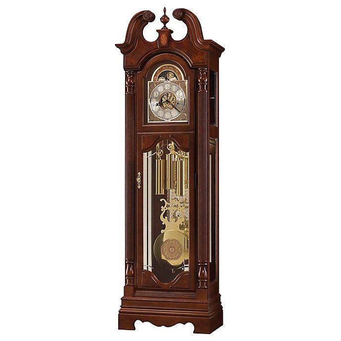 Alternate image 1 for Howard Miller® Beckett Floor Clock in Windsor Cherry
