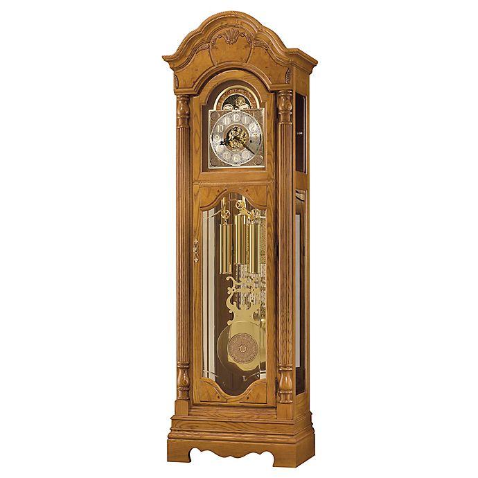 Alternate image 1 for Howard Miller® Kinsely Floor Clock in Golden Oak