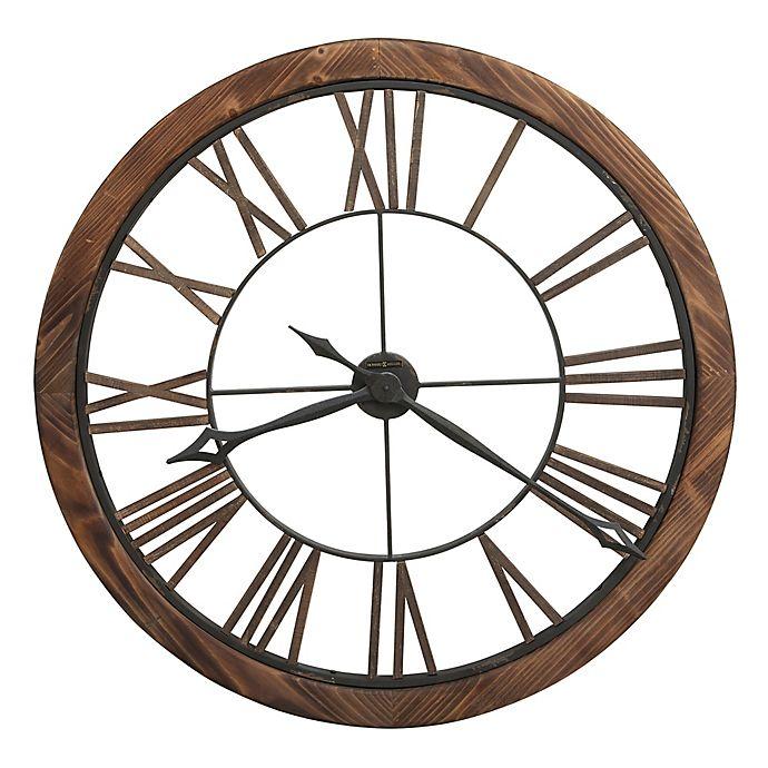 Alternate image 1 for Howard Miller® Thatcher Wall Clock in Wood