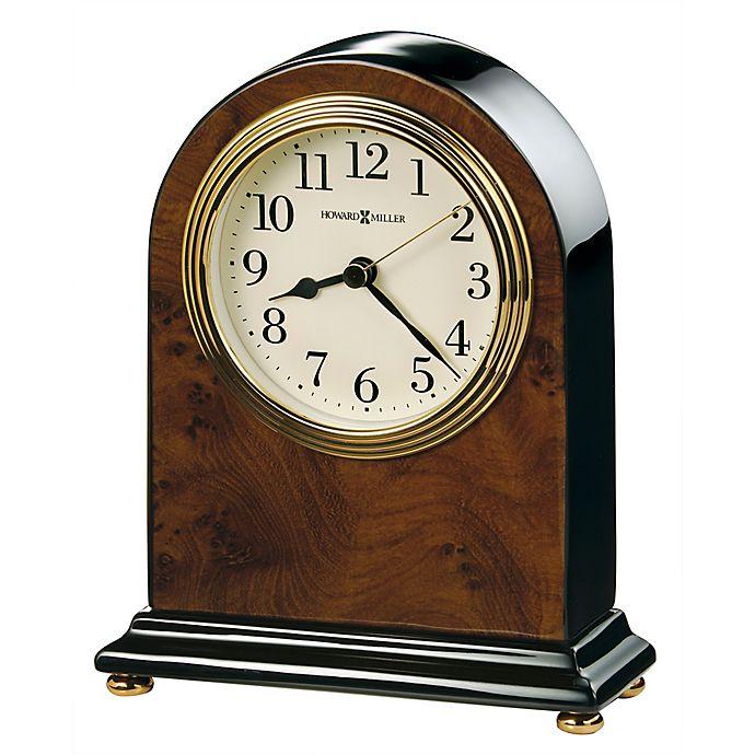 Alternate image 1 for Howard Miller® Bedford Tabletop Clock in Walnut/Black